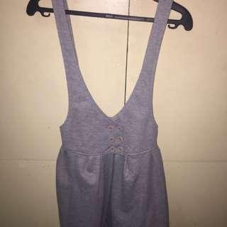 long gray cotton jumper