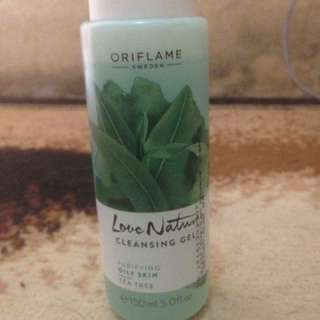 oriflame cleansing gel tea tree