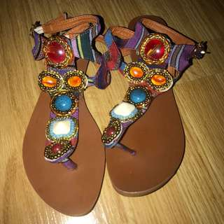 JUICY COUTURE hinestone Colourful Sandals
