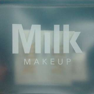 Milk Makeup Pouch With Foundation Samples