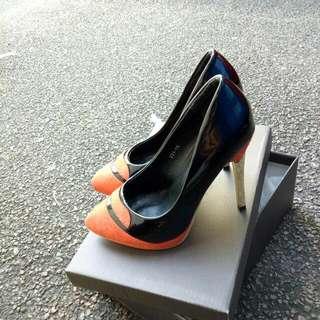 High Heels (Black Orange) 👠