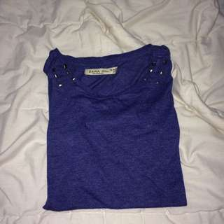 Zara Blue Sleeveless