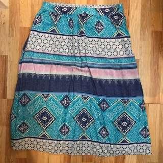 H&M Boho Midi Skirt