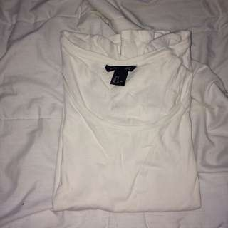 White H&M basic top