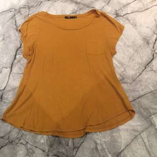 Mustard Yellow Basic Tee