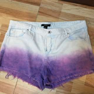 Forever 21 Mid Rise Ombré Shorts