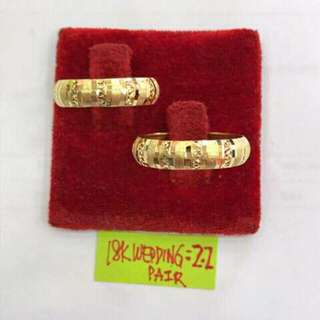 18k Saudi Gold Couple/ Wedding Ring