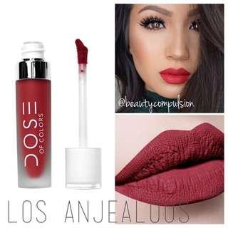 NEW AUTHENTIC INSTOCK Dose Of Colors Colours Liquid Matte Lipstick Lip Colour Los Anjealous Red Wine Shade