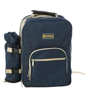 CND 戶外野餐四人餐具包 四人野餐包套裝戶外用品 雙肩燒烤包 餐具包帶餐具 便攜