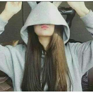 Bunny Hoodie (Grey) *new condition and free postage