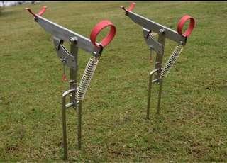 2入不銹鋼自動彈簧起竿支架 自動釣魚 魚竿支架 地插支架 釣魚用品