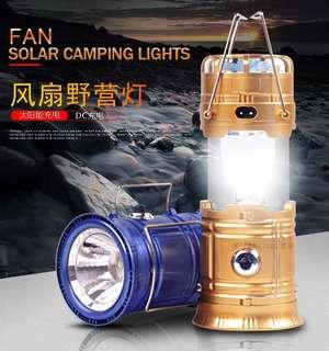 HYY5806F風扇露營燈 2017爆款 多功能太陽能 LED風扇露營燈