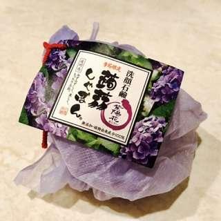 日本 蒟蒻洗顏皂 紫陽花