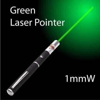 GAD066BK - Green Laser Pointer Pen 1mW