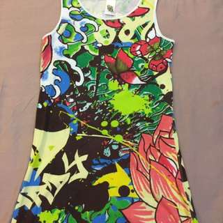 Girl's Dress With Colourful Prints
