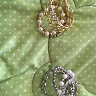 Gold And Silver Bracelet Set