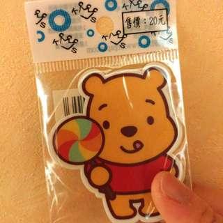 Q版維尼貼紙/ 迪士尼 / Winnie The Pool / 正版 / Sticker / Disney