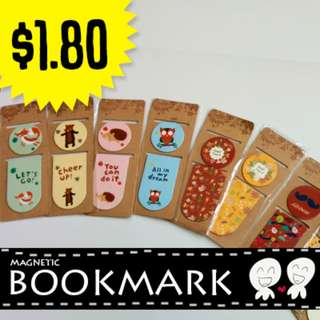 🌟 [BN Available Stock!] Cute Bookmark Magnets - Great for book lovers 🌟