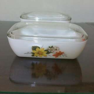 Vintage JAJ Autumn Glory Butter Dish
