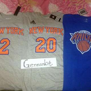 Adidas tee from NBA official online store in USA. New Knicks Larry Johnson , Allen Houston.  $150 for each