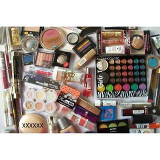 95 pcs. Wholesale Makeup Nyx Maybelline Wet N Wild Milani Covergirl Nyc & More Brands