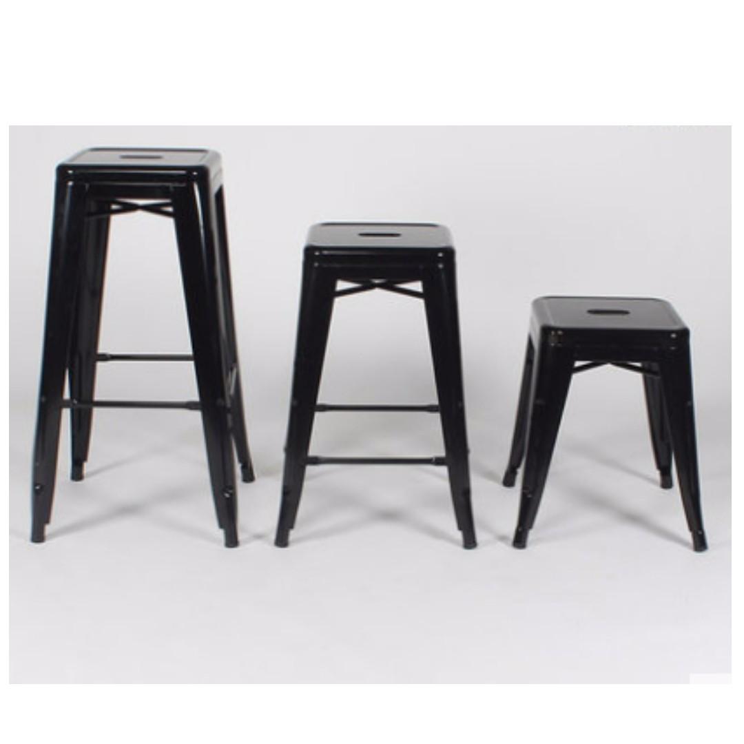 限時促銷❤夯工業風弗朗76高腳椅66/46Loft復刻黑色鐵椅白色吧檯椅設計師愛用Tolix吧椅中島椅法國椅