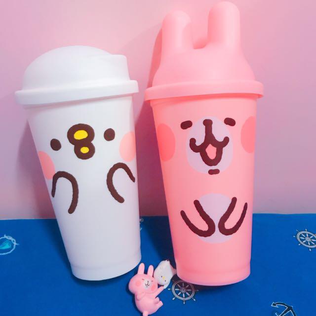 (全新)卡納赫拉卡赫娜拉 P助 兔兔 Mister Donut 聯名款 環保杯送杯緣子