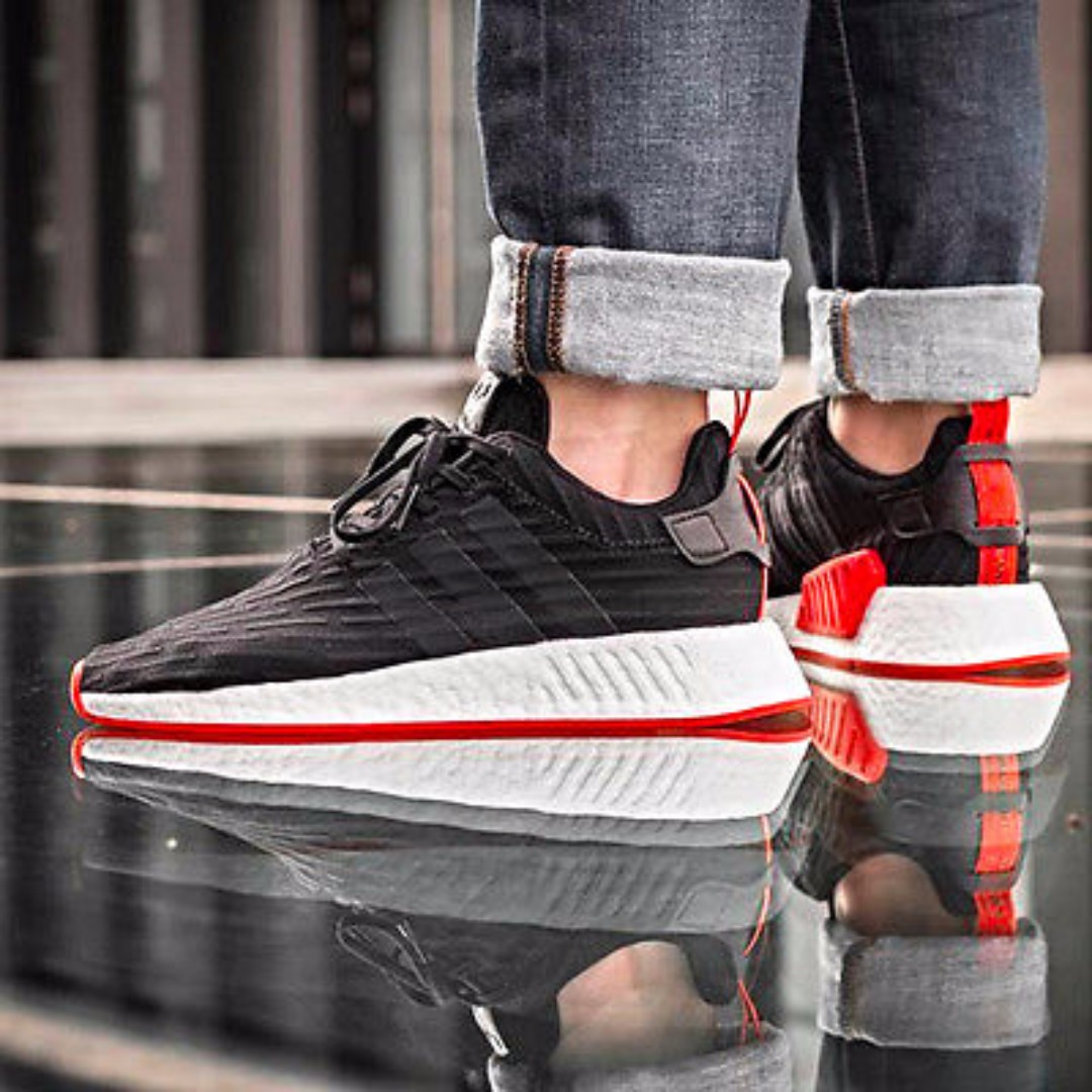 adidas nmd r2 black red