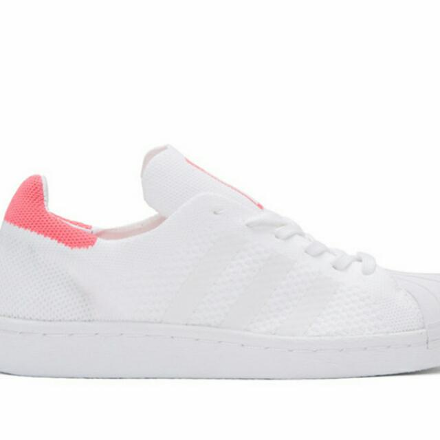 hot sale online 083cd 59e37 adidas Superstar 80s Primeknit Women's (Running White/Solar Pink ...