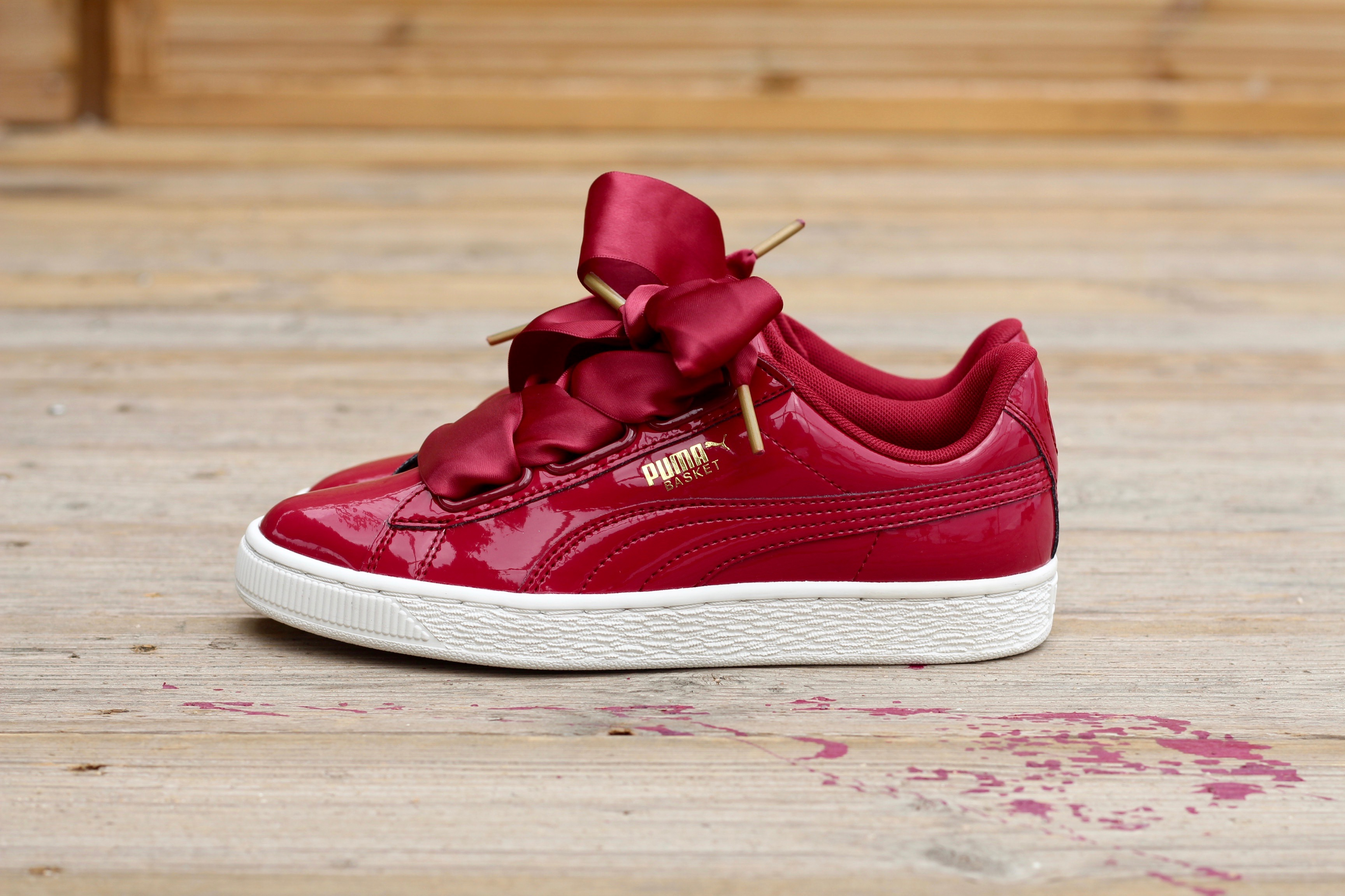 05cb344fd89 All sizes  BN Authentic Puma BASKET HEART PATENT WOMEN S TRAINERS ...