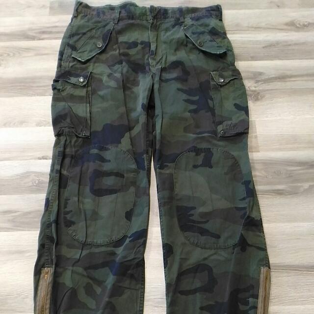 finest selection 7ff08 aea11 Alpha Industries Camo Pants, Fitsize 32