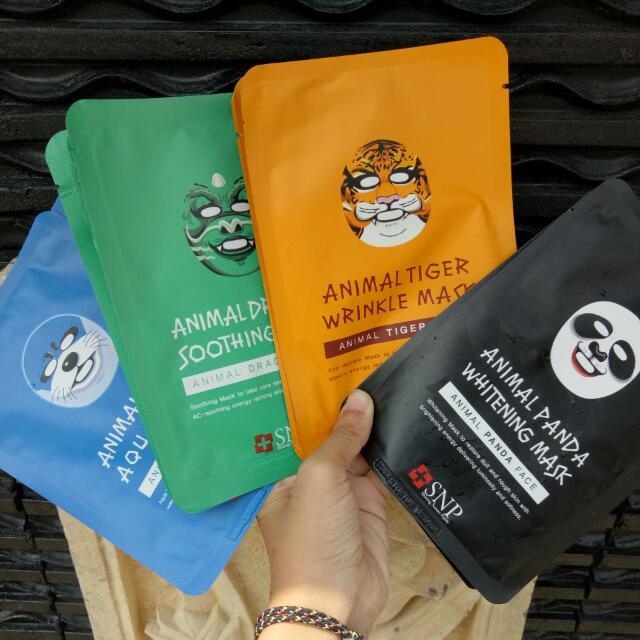 ((REPRICE)) Animal Mask (Panda, Otter, Dragon, Tiger)