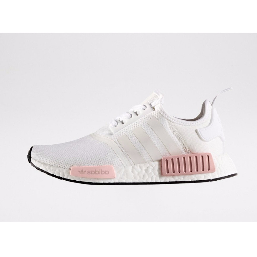d66b0ff23 Authentic Adidas NMD R1 Women s ( White   Ice Pink   Rose )