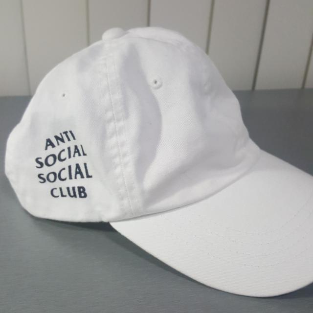 Authentic Anti Social Social Club ASSC Weird Cap White