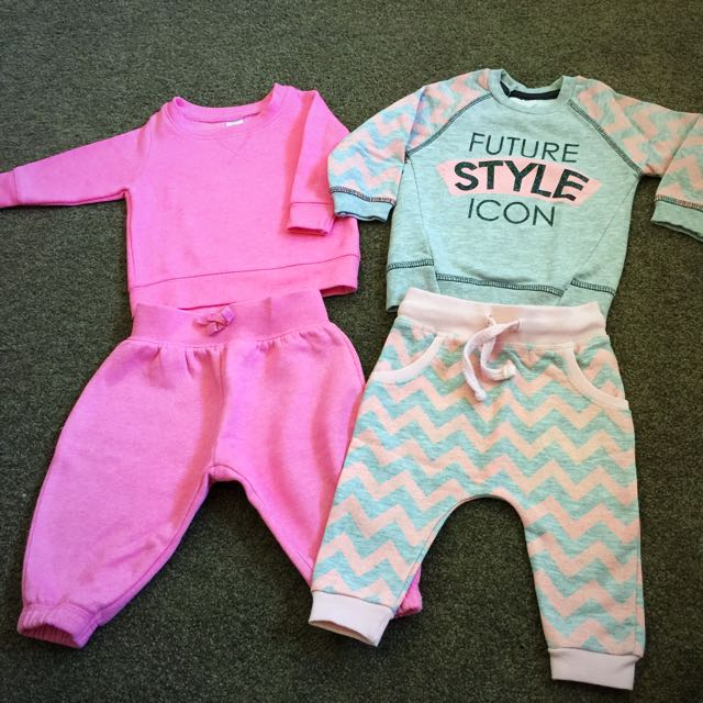 Baby Girl Tracksuit Set Of 2