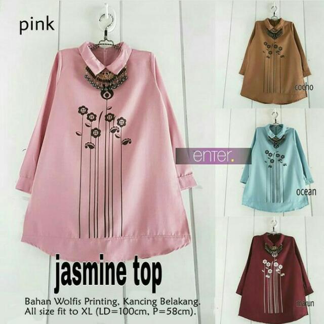 Baju Atasan Wanita Tunik Baju Muslim Blus Muslim Jasmine Top