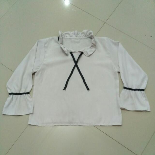 Baju Putih Lengan Panjang (SALE!!)