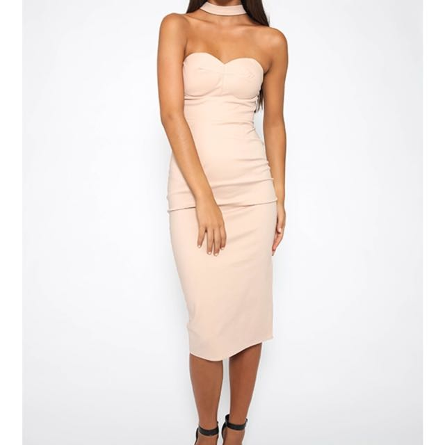 Beige Choker Formal & Evening Dress
