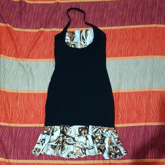 Black X Batik Dress Babe