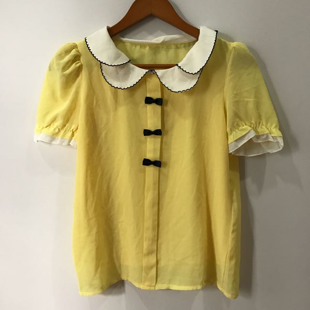 Blouse Yellow With Lace
