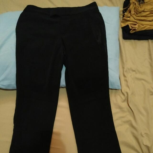 Blue black pants