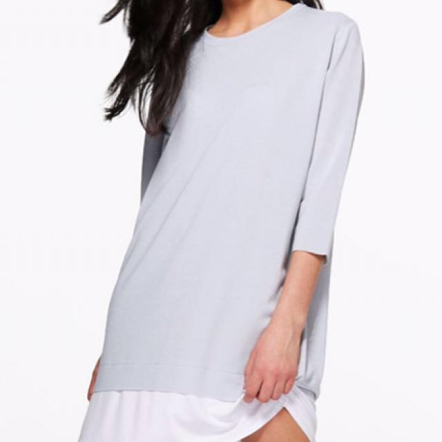BOOHOO Adelita Oversized & layered shift dress
