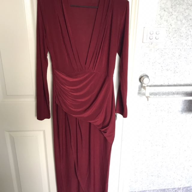 Boohoo formal plunge neck dress