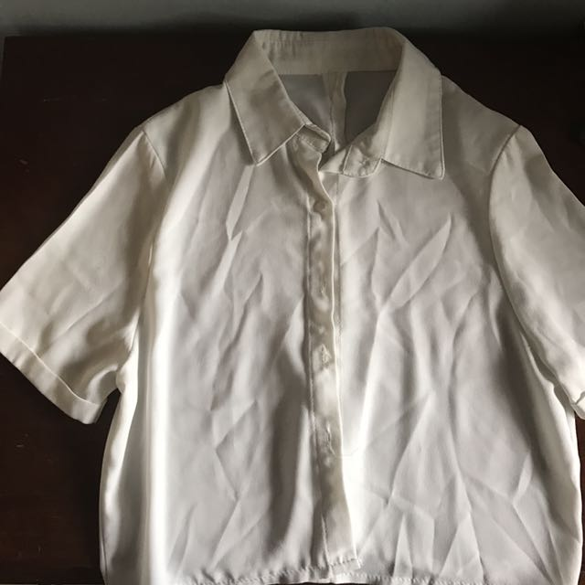 cdbcc823 boxy button up shirt in white, Women's Fashion, Clothes, Tops on ...