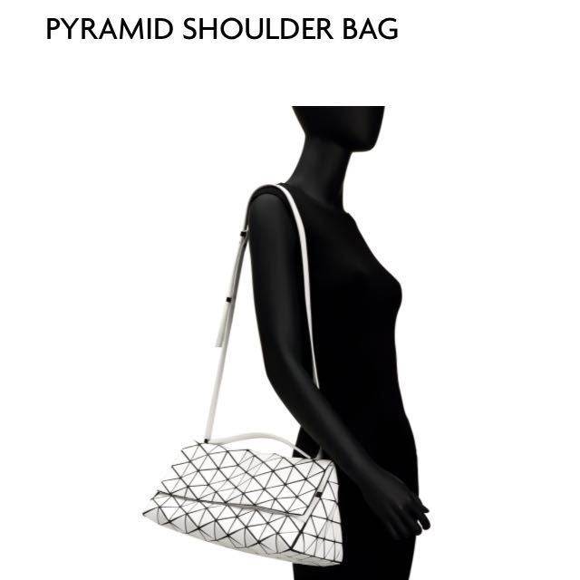 92eec215326 Brand New Issey Miyake Bao Bao Matte White Pyramid Bag, Luxury, Bags    Wallets on Carousell
