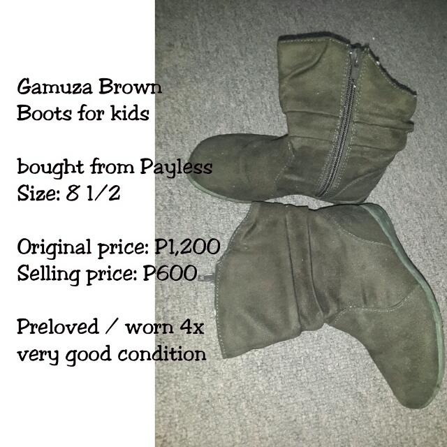 Brown Gamuza Boots