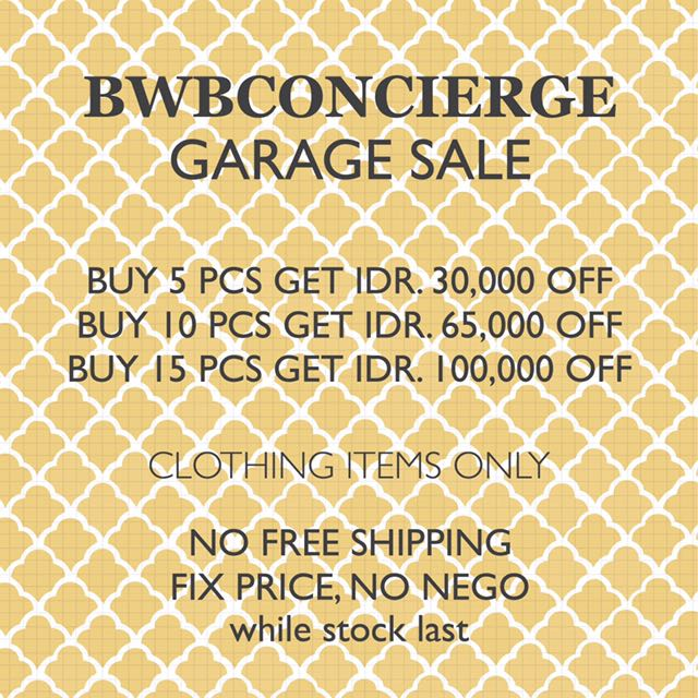 BWB CONCIERGE GARAGE SALE CLOTHING