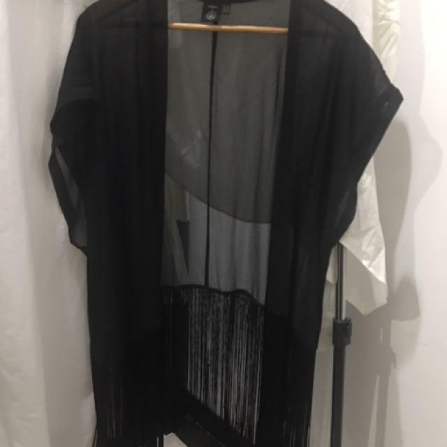 Cardigan Outerwear Summer Fringe
