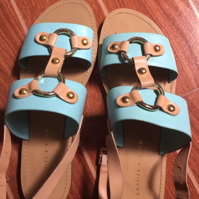 charles & keith sandals size 7 used once