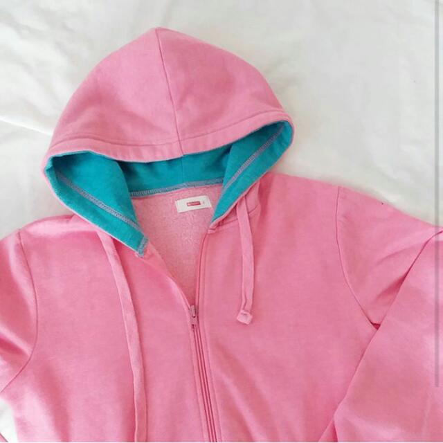 Colorblock Pink X Blue Pastel Wool Jacket / Hoodie By Bench